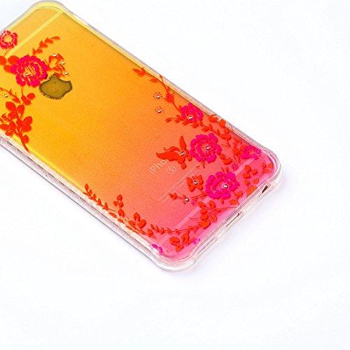 Coque iPhone 6 Plus, Coque iPhone 6S Plus, Étui iPhone 6S Plus, iPhone 6 Plus/iPhone 6S Plus Case, ikasus® iPhone 6 Plus/iPhone 6S Plus Couleur peinte avec Diamant brillant briller intérieur strass Co Jardin secret
