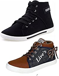 Tempo Men's Combo Pack Of 2 Sneakers (LIVES/BXR)