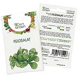 OwnGrown Premium Feldsalat Samen winterhart (Verte a coeur), Feldsalat Saatgut mehrjährig, Saatgut für rund 1000 Feldsalat Pflanzen