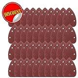 Mouse® 40 hojas de lija para lijadora de palma de detalle Black and Decker, grados de grano 60/80/120/240.