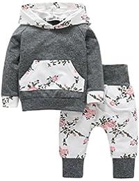 ASHOP Bebé y Niñas ropa Sudaderas con capucha de niño y niña Pantalones