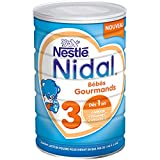Nestlé Nidal 3 Bébés Gourmands Lait de Croissance en Poudre de 1 à 3 Ans Boite de 800g - Lot de 6