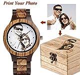 Original Pasionara Unikat - Holz Armbanduhr Unisex - Qualitativ hochwertige Uhr mit individuell anpassbaren Zifferblatt in Farbe oder schwarz Weiss incl. Gravur - Porträt Logo oder sonstige Motive