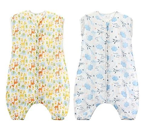 Gigoteuse d'emmaillotage Mixte Bébé enfant toute l'année Pyjama Grenouillères Combinaison