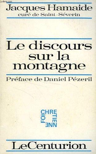 DISCOURS SUR LA MONTAGN B par Jacques Hamaide