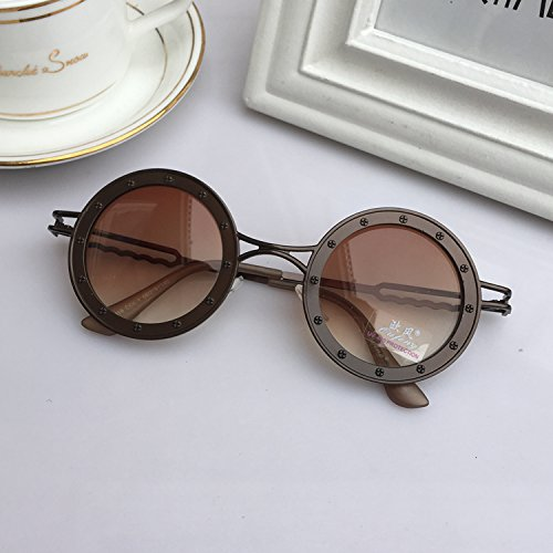 Sunyan Männliche und weibliche neue Runde Sonnenbrille, Bronze