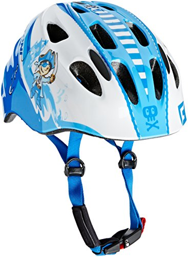 Cratoni Jungen Fahrradhelm Akino, Pirate Blue/White Glossy, 49-53 cm, 112206B1