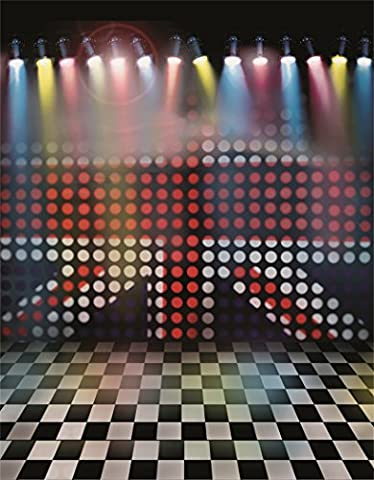 Aaloolaa Photography Backdrops Photo Background Dot Patterns Stage Wall Spotlight Grid Floors Lovers Girl Kids Children Baby Newborn Portrait Party Scene Props for Video Shooting Studio - 3x5ft