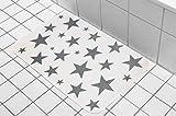 Badezimmer Badematten Stern Weiß Badeteppich Badvorleger Badezimmertepich Matte