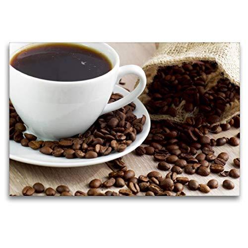 Premium Textil-Leinwand 120 x 80 cm Quer-Format Arabica-Kaffee | Wandbild, HD-Bild auf Keilrahmen, Fertigbild auf hochwertigem Vlies, Leinwanddruck von Tanja Riedel