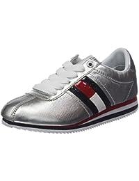 Hilfiger Denim Damen Tommy Jeans Retro Silver Sneaker