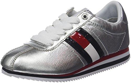 Tommy Jeans Retro Silver Sneaker, Sneakers Basses Femme