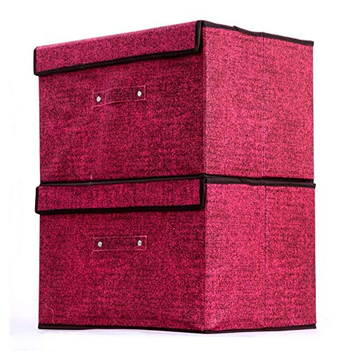 Axiba Aufbewahrungsboxen Stoff Storage Box Garment Finishing Box klappbare Non-Woven Storage Box 39,5 * 30 * 25 cm Woven Storage-boxen
