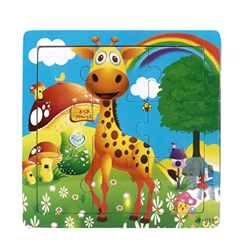 Koly® 9 Piece Jigsaw Juguetes para la educación de los niños y el aprendizaje Puzzles Juguetes (J)