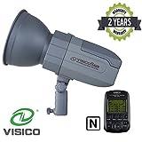 VISICO 5 Nikon 400W TTL HSS Outdoor Studioblitz mit Trigger | 2.4G Mehrkanal - Funkübertragung | Lithium - Ionen - Akkupack | Schnellrecycling | Tragbarer Speedlite Blitzkopf
