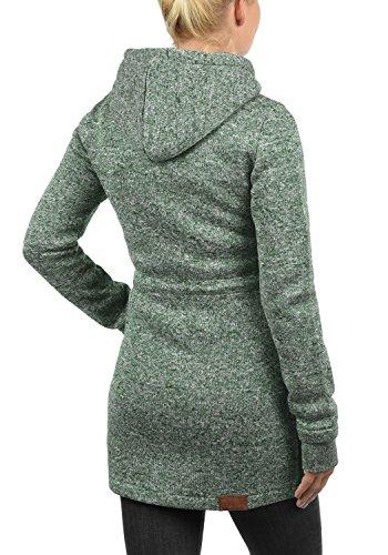 DESIRES Thora Damen Lange Fleecejacke Sweatjacke Jacke Mit Kapuze Und Daumenlöcher, Größe:XL, Farbe:Climb Ivy (3785) - 3