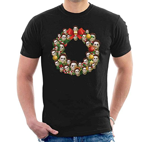 Michael Myers Halloween Multiface Christmas Wreath Men's T-Shirt