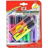 MP PE489 - Pack de 6 marcadores, fluorescente