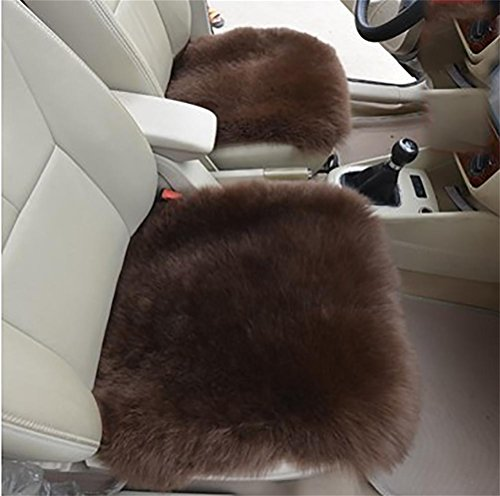 Faux-leder-dekorative Kissen (GAOFEI Faux Wolle Auto Kissen, bequeme und atmungsaktive Autositzbezüge, rutschfeste Universal Winter Sitzbezug für Automobil, Büro und Zuhause,J)