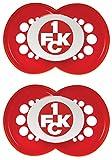 MAM 66186001 - Football 1. FC Kaiserslautern Schnuller, 6-16 Monate, Silikon, Doppelpack