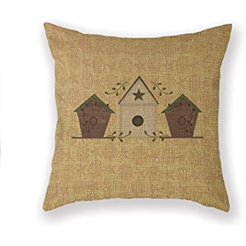 B Lyster shop Birdhouse Wildlife Nature Primitives Cotton & Polyester Soft Zippered Cushion Throw Case Pillow Case Cover