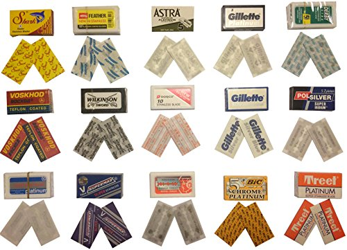 30 Qualität Double Edge Rasierklingen Sampler (15 verschiedene Marken)