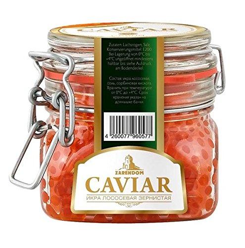 Keta (Chum) salmon caviar rojo Premium (Vidrio) 250 gr.