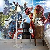 BXZGDJY Peintures Murales Auto-Adhésives 3D Art Mural (L) 200X (H) 150Cm Papier Peint Photo Union Boys Manga Comic Papiers Peints Enfants Chambre Salle De Design Intérieur Chambre Salon Salon Fond