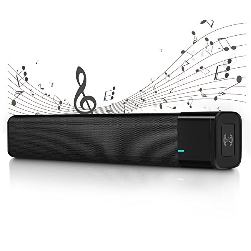 Mobiler Lautsprecher, ELEGIANT 20W BT 4.1 Tragbarer Bluetooth Lautsprecher Wireless Dual Mini Computer Soundbar HIFI Mobiler Subwoofer Speaker Stereo Stereoanlage Soundbox Boombox + 3 Super Modus Maxx Treble Maxx Bass und Maxx 3D + 4400mAh Akku + NFC Funktion + TF Karte + 3,5mm AUX Kabel für iPhone X 8 7 6s 6 PC Tablet Laptops Netbooks Android Sumsung und alle Bluetooth Geräte