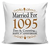 Married For...Days & Counting... (3rd Leather) Novelty Cushion Cover
