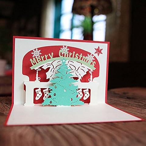Pixnor Pop-Out 3D Weihnachtskarten für Sammlung Glückwünsche Geschenkkarte