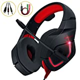 Gaming Kopfhörer PC, MillSO K1 Over Ear Gaming Headset mit Flexible Omnidirektional Mikrofon Noise...