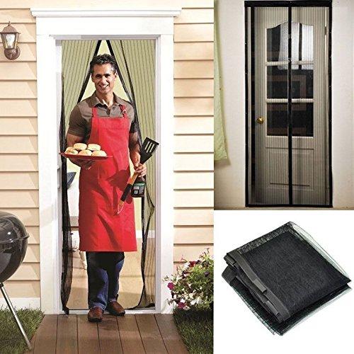 Erasky Mosquitera Magnética Para Puertas con Malla Super Fina para Dejar Pasar el aire Fresco y cierre magnético que se cierra Automáticamente para Dejar a los Insectos Fuera (90cm*210cm)