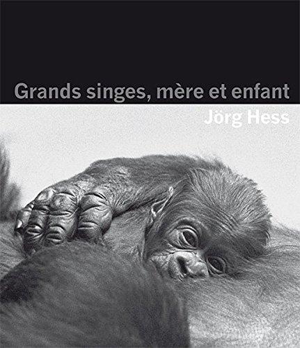 Grands singes, mère et enfant par Jörg Hess