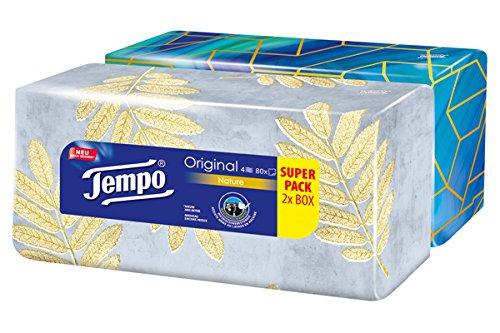 Tempo Original Duo-Box Taschentücher 4-lagig, (2 x 80 Tücher)