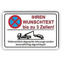 30x45cm Parkverbot Schild Aufkleber Parken verboten Einfahrt freihalten PV-021