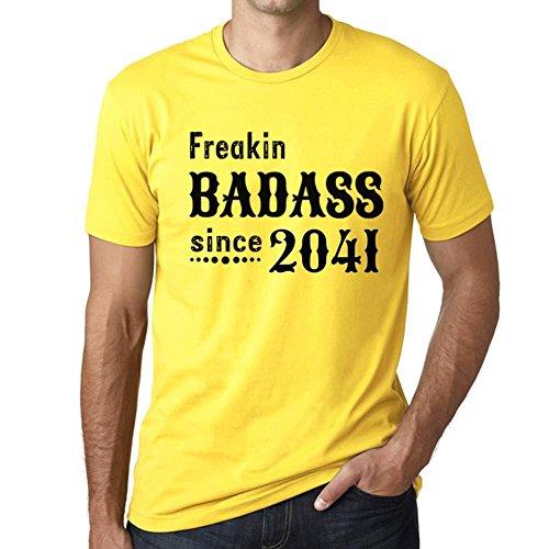 Freakin Badass Since 2041 Herren T-Shirt Gelb Geburtstag Geschenk