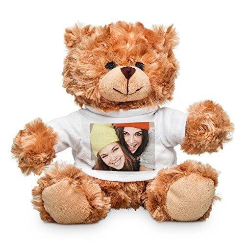Plüschtier mit personalisiertem Foto - weicher Teddybär mit T-Shirt für EIN individuelles Bild - 20 cm -