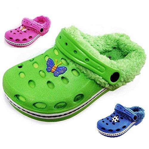 Enfants Sabots chaussons aquatiques (20A) badelatschen Chaussons Mules à chaussures 2en 1nouveau. Rose - Rose