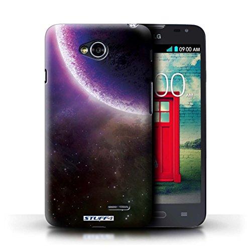 Kobalt® Imprimé Etui / Coque pour LG L70/D320 / Planète Pourpre conception / Série Cosmos Éclipse Pourpre