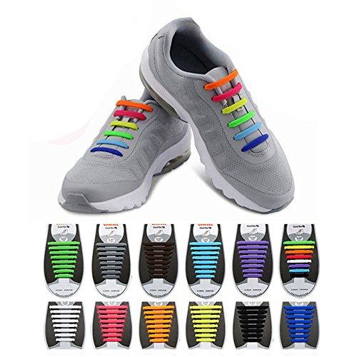 Global Brands Online Honana HN-4221 Keine Krawatte Schnürsenkel Mehrfarbige Schnürsenkel Elastische Silikon Schuhe