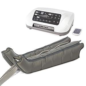 Venen Engel ® 6 Premium Massage-Gerät mit Beinmanschetten, 6 deaktivierbare Luftkammern, Druck & Zeit unkompliziert einstellbar, 6 Massage-Programme
