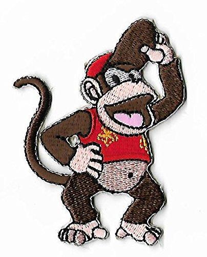 Diddy Kong Patch vollständig aufgesticktem Eisen/Nähen auf Badge DIY Aufnäher Souvenir Kostüm Gorilla Ape Affe ()