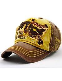 9b1287157b2 FENGFA Mens Vintage Distressed Baseball Caps Adjustable Snapback Sports Cap  Trucker Hat