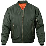 Lacsinmo Men's Bomber Jacket Winter Casual Warm Thicken Military Coat with Zip Pocket