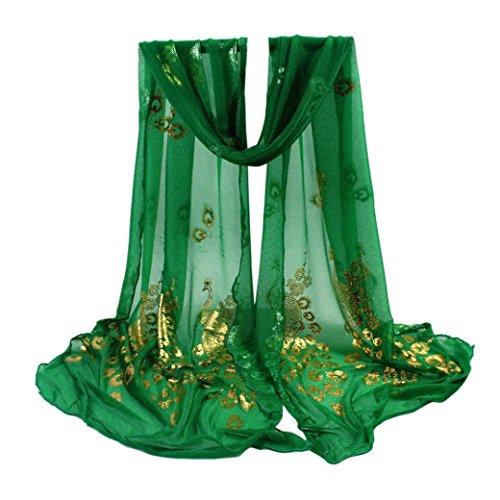 Vovotrade Señora Bufanda de Flores de las Mujeres Multicolor de Flores de pavo real de la gasa Bufanda...