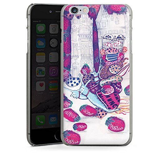 Apple iPhone X Silikon Hülle Case Schutzhülle Erdbeeren Schnecken Chaos Hard Case anthrazit-klar