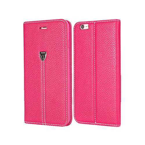 """D9Q Magnetischen Flip PULeder Cover Wallet Case Stehen Fall für iPhone 6 Plus 5,5"""" !!Rose"""