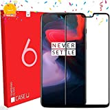 CASE U Full Glue OnePlus 6 Full Coverage 3D Tempered Glass, Full Edge-to-Edge 3D Screen Protector for Oneplus 6 (1 Pack)-Prime Day Sale