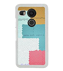 Multi colour Self Design Pattern 2D Hard Polycarbonate Designer Back Case Cover for LG Nexus 5X :: LG Google Nexus 5X New